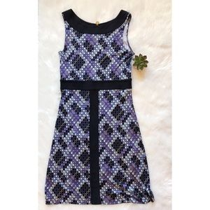 Tory Burch Purple Print Safia Silk Dress